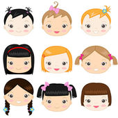 Baby girls — Stock Vector