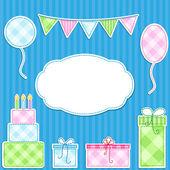 Birthday card — Stock vektor