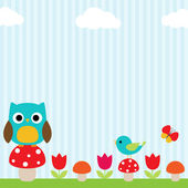 Owl background — Vecteur