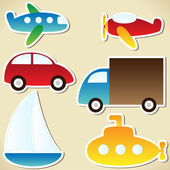 Transport set — Stock Vector
