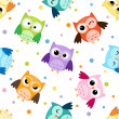 Stock Vector: Owls pattern