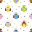 Owls pattern — Stock Vector