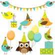 Royalty-Free Stock Vector Image: Party birds set