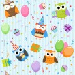 Stock Vector: Party owls
