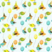 Party birds pattern — Stock Vector