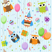 Party owls — Stock Vector