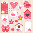 Vector de stock : Love set