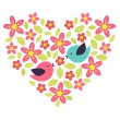 Flower heart — Stock Vector #8705831