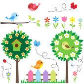 Ensemble de jardin — Vecteur