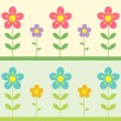 Stock Vector: Two flowers background