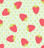 Strawberry pattern — Stock Vector