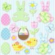 Easter set - Stock Vector