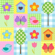 Spring pattern — Stock Vector