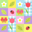 Spring pattern - Stock Vector