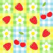 Berry pattern — Stock Vector