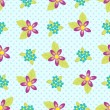 Royalty-Free Stock Vector Image: Flowers pattern