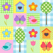 Spring pattern — Vector de stock