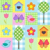 Wiosna wzór — Wektor stockowy
