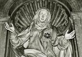 尊古老的雕像 — 图库照片
