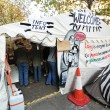 Stock Photo: Occupy London info tent