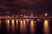 Stockholm by night — 图库照片