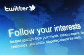 Twitter — Stock fotografie