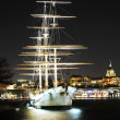 Ship at night — Stock Photo