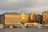 Stockholm at sunset — Stock Photo