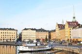 Stockholmské nábřeží — Stock fotografie