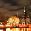 Stock Photo: Copenhagen by night