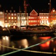 Copenhagen by night - Stock Photo