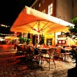 Restaurant at night — Stock Photo