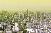 Polluted city — Stock Photo
