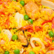Paella texture - Stock Photo