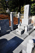 Japanese cemetery — Stock Photo
