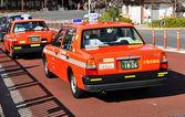 在东京出租车 — 图库照片