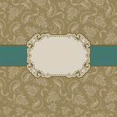Template frame design for greeting card . — Stock vektor