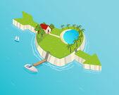 Liefde eiland — Vector de stock
