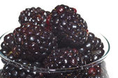 Black berries in a glass — Stock Photo