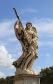 Angel statue on the Ponte sant angelo — Stock Photo