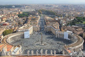 St. Peter's Square at the Vatican — Stockfoto