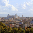 Постер, плакат: Panorama of Rome including Monument Vittorio Emanuel II