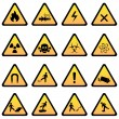 Warning and danger signs — Vector de stock #10110166