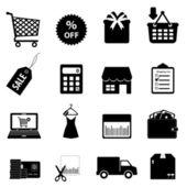Shopping och e-handel — Stockvektor