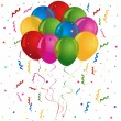 Balloons for birthday or party — Stock Vector
