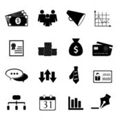 Business and finance icon set — Stock Vector