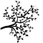Tree with leaves — Vector de stock