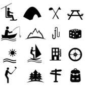 Leisure, sports and recreation icons — Stock Vector