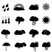 Weather icons and symbols — Stock Vector