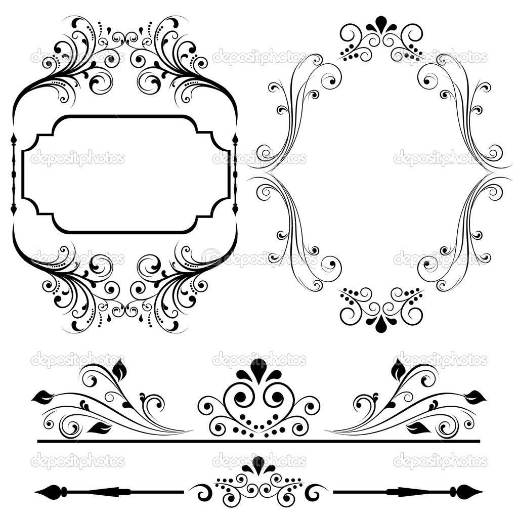 border and frame designs for cards or invitations vector by soleilc